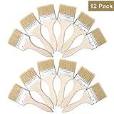 Farbpinsel (12er Set) -Acrylpinsel Set Pinsel zum Streichen und Lackieren Größe 7,6cm (3') - Ideal für Wand- und Holz Farbe zum Beizen, für Leim und Gesso-Grundierungen - Pinsel zum Malen