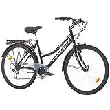 Multibrand Distribution Probike 26 City Zoll Fahrrad 6-Gang Urbane Cityräder for Heren, Damen,...
