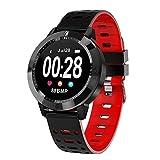 SMLSMGS Smart Watch Smart-Armband-Farben-Schirm Herzfrequenzüberwachung Fitness Tracker Sport Smart...