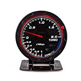 ZGQA-Panels 60mm Auto Änderung Instrument Turbolader Schwarz Gesicht Rot Weißes Licht 12 V...