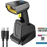 Inateck 2D Barcode Scanner Bluetooth, Wireless QR Code Scanner mit Intelligenter Ladestation, 2D...