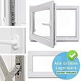 Kellerfenster - Kunststoff - Fenster - weiß - BxH: 80 x 60 cm - DIN rechts - 2-fach-Verglasung - Lagerware