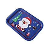 Xploit Christmas Tray Obsttablett Eisentablett Christmas Santa Claus Snowflake Rectangle Food Snack Obsttablett