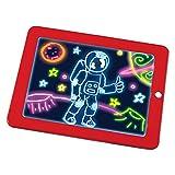 cooloh Magic pad, leuchtender Zeichenblock mit 6 Neonfarben und 8 Lichteffekten, zaubertafel Magic pad mit 30 Schablonen, kreatives Spielzeug, geeignet als Geschenk für Kinder