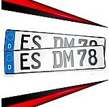 KFZ Schilder Direkt 2 Kennzeichen 520 x 110mm | Nummernschild | Autokennzeichen