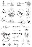 Temporäre Tattoos von Tatsy, Tattoo Set, Schlichte Motive für Frauen und Männer, Originales,...