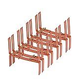 4 Paar Blumenkastenhalter terrakotta Standard H-Form Kasten Halter Balkonkastenhalter