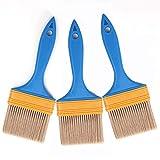 Mehrzweck-Pinsel-Set Nylon Flachpinsel Kit Home Repair Tools für Künstler Acryl Öl Aquarell Gouache Malerei Möbelfarben 3 Stück 2,5 cm