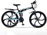 TOYSSKYR Mountainbikes Mountainbike Falträder, 27-Gang-Doppelscheibenbremse Fully Anti-Rutsch, Off-Road Variable Speed Racing Bikes for Männer und Frauen 6-11,26 Zoll für enwachsene Jugendfahrrad
