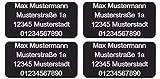 CopterFarm Sicherheitsschild Drohnen Kennzeichnung Plakette Adressgravur Kennzeichen Schild...