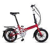 Qinf Falträder Faltrad 16 Zoll Männer und Frauen Modelle Leichtes Fahrrad Erwachsenenauto...
