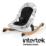 Kinderkraft Babyliege FINIO, Babywippe aus Holz, Licht, Einfach zu Transportieren, mit...