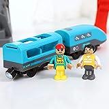 rosemaryrose Eisenbahntisch Holzbahn Thomas Die Lokomotive -Elektrische Zug Spielzeug Set Kinder Zug...