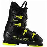 TECNOPRO Unisex Jugend T50-4 Skistiefel, Black/Yellow, 27