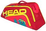 HEAD Unisex Junior Combi Novak Tennistasche, Rot/Gelb, Einheitsgröße
