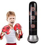 Sarplle Aufblasbarer Boxsack Tumbler Kickboxsack Freistehender Sandsäcke Fitnesssäule für...