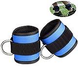 2PCS Fußschlaufen für Fitness Trainin Kabelzug Beintrainer Foot Ankle Straps, Klettverschluss für...