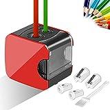 Meerveil Anspitzer, Elektrischer Anspitzer USB- und Batteriebetrieb, Vollautomatischer...