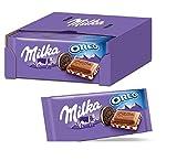Milka & OREO Schokoladentafel 22 x 100g, Zarte Milka Alpenmilch Schokolade mit knusprigen original...