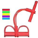 Cyclamen9 4-Röhren-Fuß Pedal Pull Seil Krafttraining Sit-Up Fitness Yoga Equipment, rot