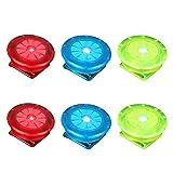LIOOBO LED Sicherheitslicht Clip für Läufer Hunde Fahrräder Kinderwagen 6 Stück (Rot Blau und...