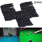 TIANTIAN 20 Stück Snooker-Handschuh Billard-Handschuh 3 Finger Billard-Handschuh für Linke Hand