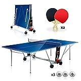YM Tischtennis-Tisch, zusammenklappbar, für den Innen- und Außenbereich, inklusive Kugeln,...