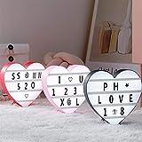 22 * 22cm USB-LED-Liebes-Herz-Nachtlicht-Box DIY Buchstaben Symbol Karten Dekoration-Lampe Message...