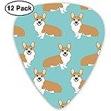Funny Corgi Dogs Mint Green Plektren Dünn, 12er-Pack Bunte Plektren für Kinder