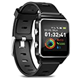 Smartwatch Fitness Armbanduhr Pulsuhren Fitness Uhr mit IP68 wasserdicht Smart Watch GPS Sportuhr 17...