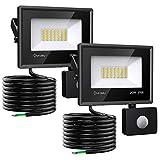 Onforu 2er 20W LED Strahler mit Bewegungsmelder, Superhell 1800LM Außen Fluter Flutlicht, IP66...