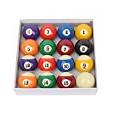 BESPORTBLE Poolbälle Set Snooker Bälle Tisch Billard Spielbälle Komplettset Professionelles...