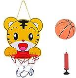 SIMUER Basketballkorb & Bälle Spielset Baby Spielzeug Basketballkorb und Bälle,Cartoon Tiger und...