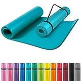 GORILLA SPORTS® Yogamatte mit Tragegurt 190 x 60 x 1,5 cm rutschfest u. phthalatfrei –...