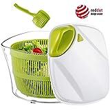Focovida Salatschleuder 5L mit Deckel und Nudelzange, Design Patent Großer Salattrockner inkl....