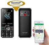 simvalley MOBILE Handy GPS: Komforthandy mit Garantruf Premium, XL-Farbdisplay, GPS-Tracking & App...