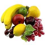 Gresorth Künstliche Lebensecht Apfel Brin Banane Traube Zitrone Pfirsich Fälschen Früchte...