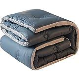 WAKTN- Weiche Bettdecken sind universell für 4 Jahreszeiten, Bequeme Bettdecken für Bettbeschläge, 100% Polyester gefüllt, Optionen in Mehreren Größen (blau)