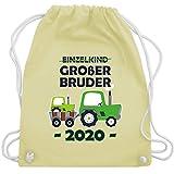 Shirtracer Geschwister Bruder - Einzelkind Großer Bruder 2020 Traktor blau - Unisize - Pastell Gelb...