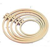 Egurs 5 Stück Stickrahmen aus Kunststoff Einstellbar Stickerei Hoop DIY Handwerk Nähen für...