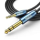 MillSO 3,5mm auf 6,35mm Aux Audio Kabel 6.35 Klinkenstecker zu 3.5 TRS Stecker Stereo Auxiliary...