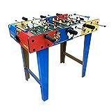 ZXQZ Tischbillard 2ft Stehender Fußballtisch, Indoor Compact Tischfußball für Kinder Family Games Room Fun Piłkarzyki