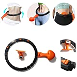 Eudsa Vasd Auto-Spinning Hoop, Abnehmbarer Hula Hoop für die Massage, einstellbare Taillengröße,...