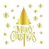 Wandaufkleber XMoments Weihnachten Gold Muster Haushalt Dekorative Art Home Wandbehang Tapisserie...