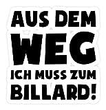 shirt-o-magic Aufkleber Snooker: Muss zum Billard! - Sticker - 5x5cm - Weiß