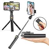 Soft Digits Bluetooth Selfie Stick Stativ, 3 in 1 Erweiterbar Monopod Wireless Selfie-Stange Stab...