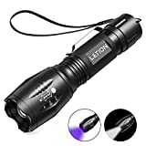 LETION 2 in 1 UV Lampe, Schwarzlicht und Weißes Licht Taschenlampe,395nm Ultraviolette Taschenlampe...