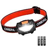 Stirnlampe OMERIL LED Stirnlampe Kopflampe, Superhell Wasserdicht Leichte Mini Stirnlampe LED mit 3...