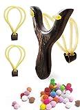 Schleuder, Doppelschleuder Bogen, Sportschleuder, 1 Schleuder, 100 Munition und 2 Ersatzgummis,...