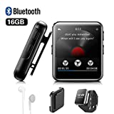 MP3 Player BENJIE 16GB MP3 Player Bloothooth 1,5' MP3 Player Sport Voller Touchscreen HiFi...